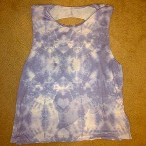 Onzie Large blue tie dye workout tank
